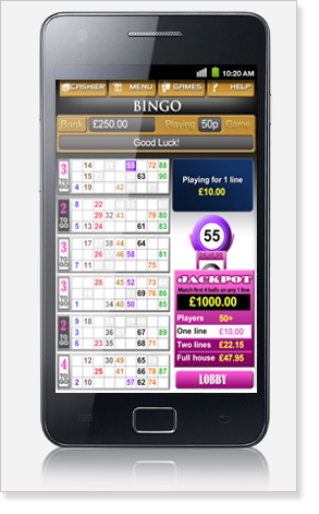 Mobile Bingo Android Phone