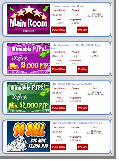 Bingo Australia Buying Tickets