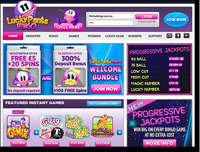 LuckyPantsBingo.com - Top Quality Online Housie AUD