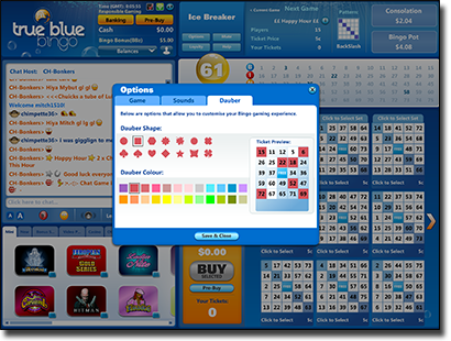 True Blue Bingo - Customisation for Players