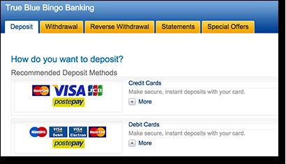 MasterCard banking for real money Web bingo