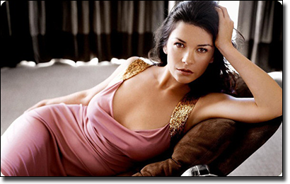 Catherine Zeta Jones plays bingo
