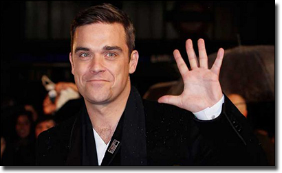 Robbie Williams plays bingo