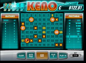 Play AUD keno